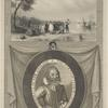Landing at Jamestown ; The portraictuer of Captayne John Smith, admirall of New England.