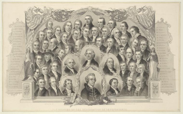 Fascinating Historical Picture of United States. Declaration of Independence in 1657
