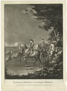 The King of Prussia reviewing his troops