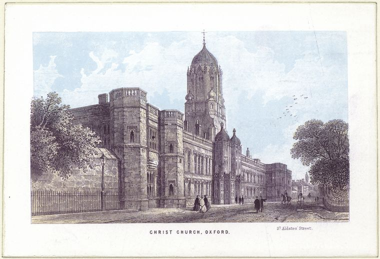 Fascinating Historical Picture of Christ Church on 1/1759