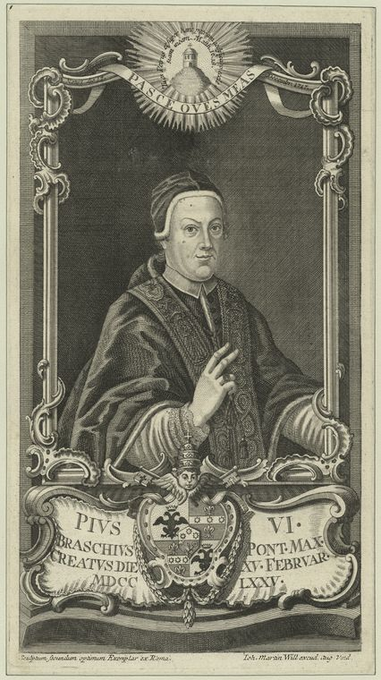 Fascinating Historical Picture of Pope Pius VI in 1775