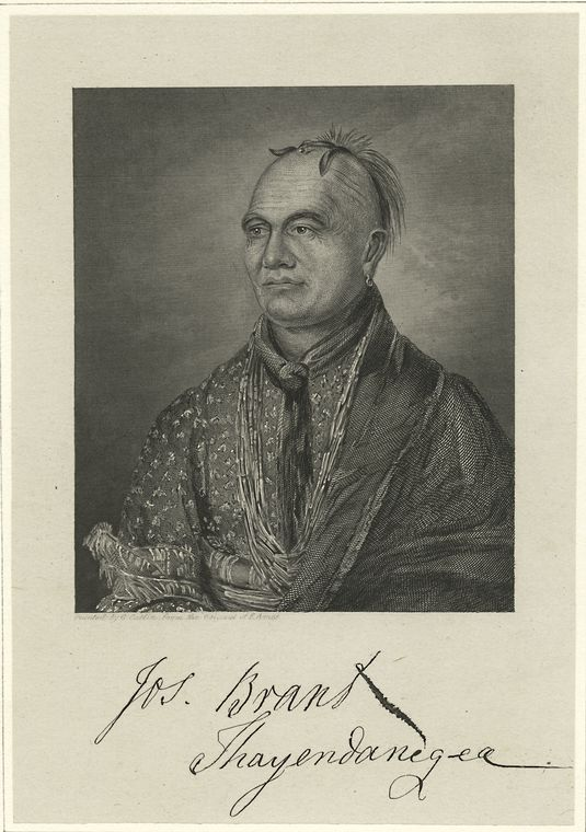 Fascinating Historical Picture of Joseph Brant in 1776