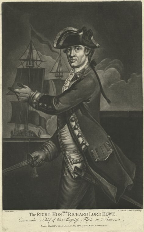 Fascinating Historical Picture of Richard Howe Howe in 1778