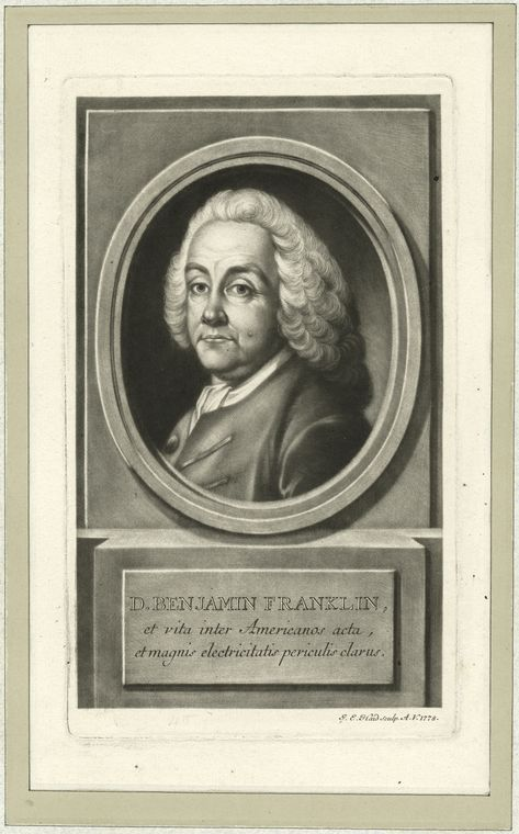 Fascinating Historical Picture of Benjamin Franklin in 1778