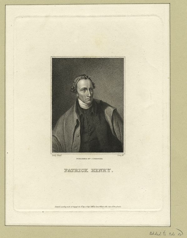 Fascinating Historical Picture of Patrick Henry