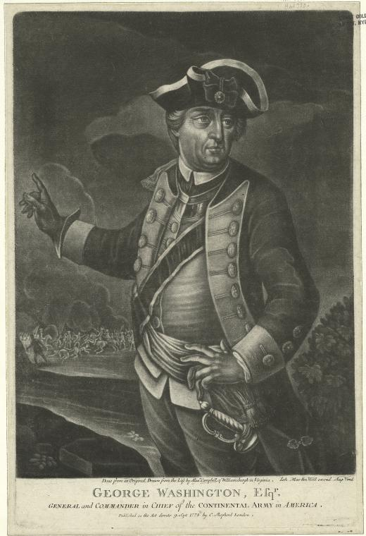 This is What Alexander Campbell and George Washington Esqr. General and Commander in Chief of the Continental Army in America Looked Like  in 1775