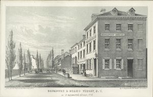 Broadway & Grand Street, N.Y. as it appeared about 1818 / G. Hayward