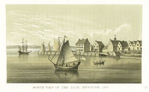 North view of the dock New York 1679