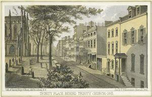Trinity Place behind Trinity Church, 1861 / Sarony, Major & Knapp