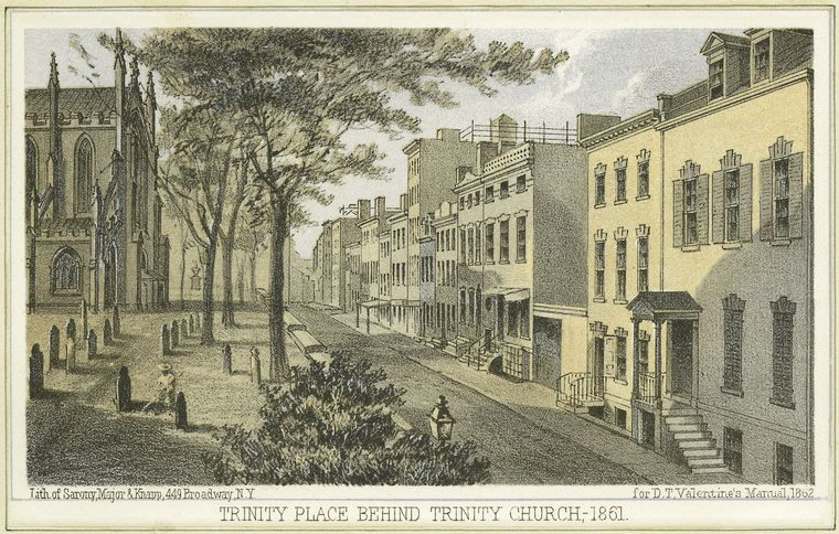 Fascinating Historical Picture of Trinity Church on 1/1828