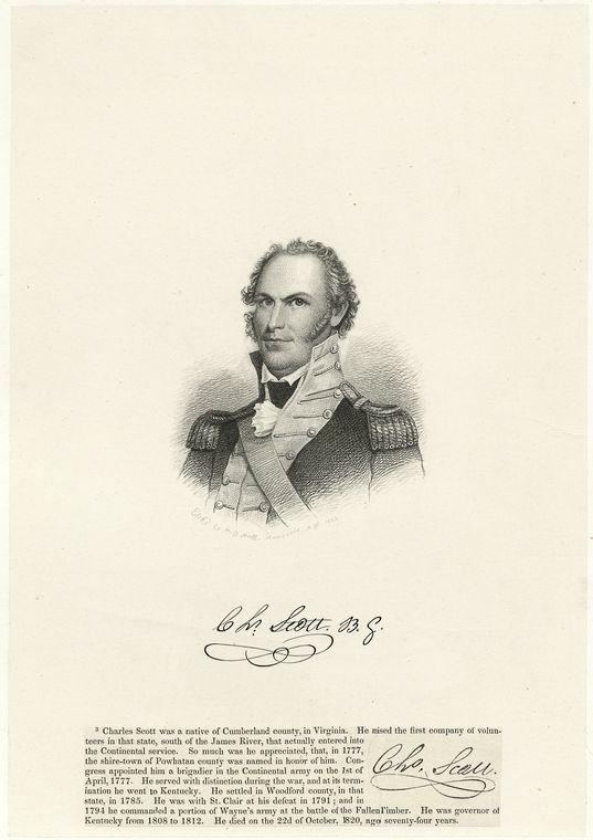 Fascinating Historical Picture of Charles Scott on 1/1759