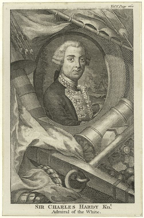Fascinating Historical Picture of Charles Hardy in 1760