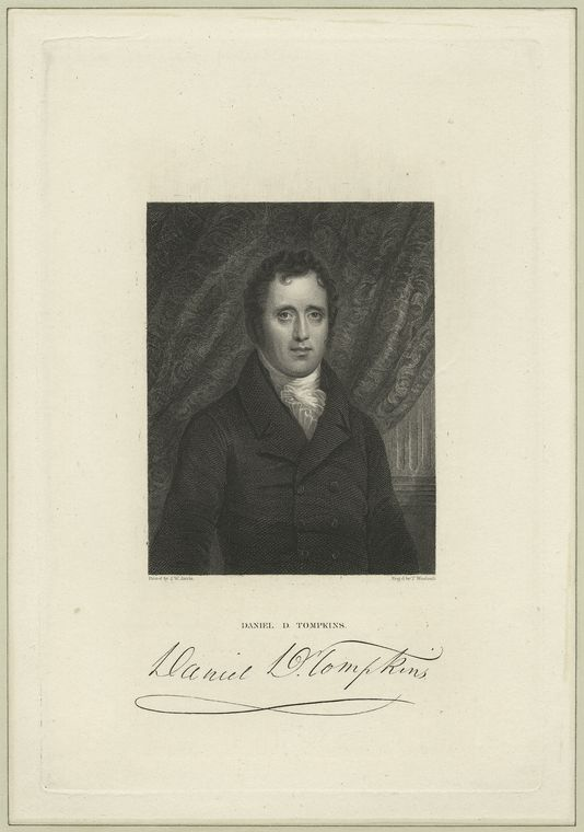 This is What Thomas Woolnoth and Daniel D. Tompkins Looked Like  in 1834