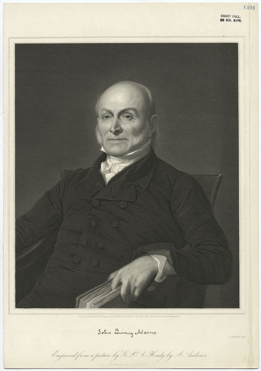 Fascinating Historical Picture of John Quincy Adams in 1848
