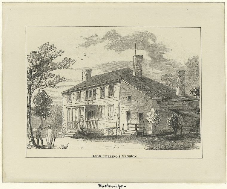 Lord Stirling's mansion [Basking Ridge, N.J.]