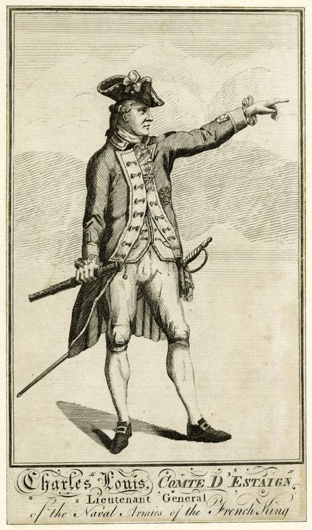 Fascinating Historical Picture of Charles Henri Estaing in 1780