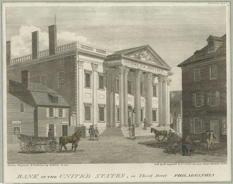 Fascinating Historical Picture of Bank of the United States in 1799