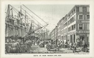 South St. from Maiden Lane 1828 / G. Hayward
