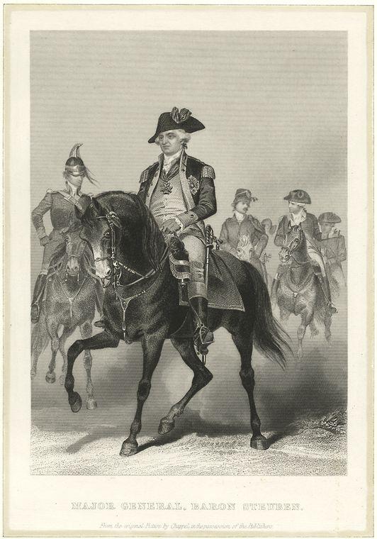 Major General, Baron Steuben.