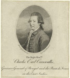 The Right Honble. Charles Earl Cornwallis, Governor General of Bengal and the British Forces in the East Indies / F. Bartolozzi