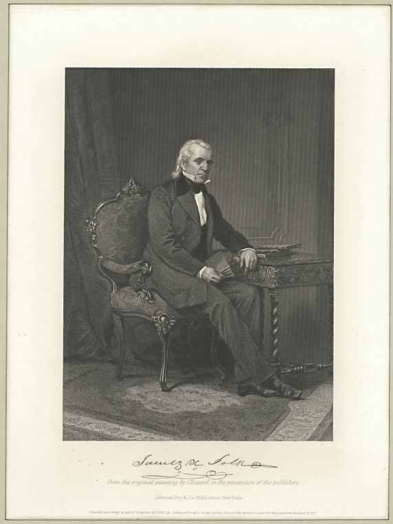 This is What Polk, James K. Looked Like  in 1862