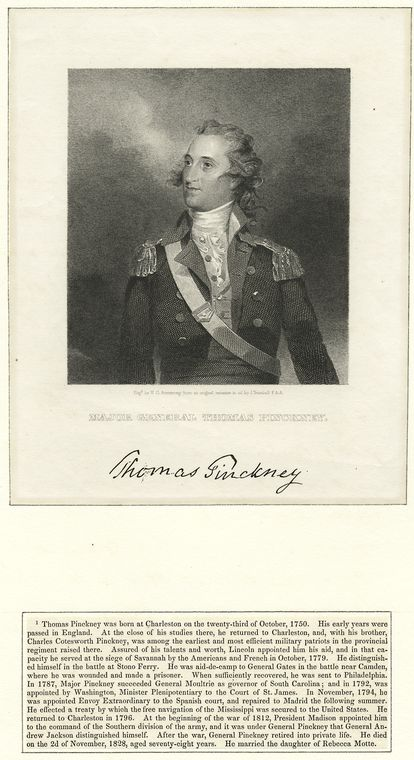 Fascinating Historical Picture of Thomas Pinckney on 1/1759