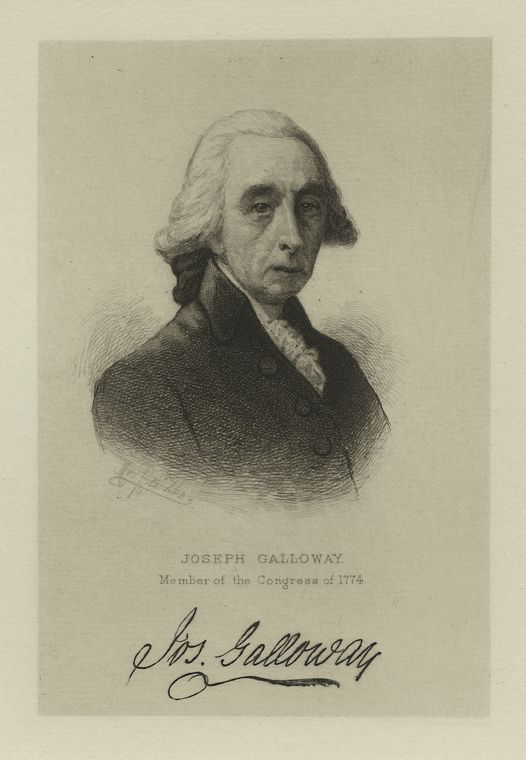 This is What Joseph Galloway Looked Like  in 1783