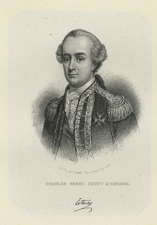 Fascinating Historical Picture of Charles Henri Estaing in 1778