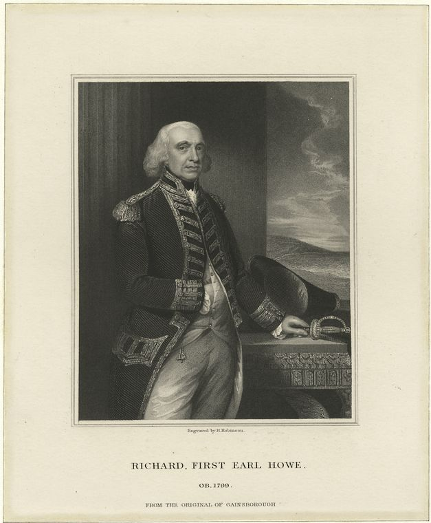 Fascinating Historical Picture of Richard Howe Howe in 1776