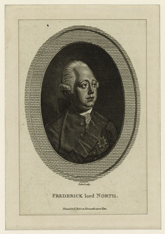 Fascinating Historical Picture of Frederick North in 1780