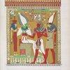 Gran bassorelievo della tomba di Menphtah I [read Sethos I] rappresentante il Faraone guidato dal dio Horus al cospetto di Osiride e di Athyr infernali.