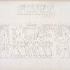 1. Immagini di re in vari atteggiamenti di offerta. 2. La Bari di Chnuphis [Khnum] portata in processione solenne.