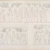 1. La regina Nofreteri offre due sistri a Taôer, Thoth e Netpe. 2. Ramses II offre incenso a Sevek, Seset, Rito e Athyr. 3. Menphtah II offre a Osiride, a Iside e a Ramses III. 4. Offerta di Ramses IV ad Amon-rê , Muth e Scions. (.. nel monte de Silsilis)