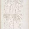 Tebe [Thebes], Palazzo di Luqsor [Luxor]: 1. Offerte di  Menphtah I [Merneptah] ad Amon-rê [Amon] e ad Athyr [Hathor]. 2. Libazione di Amenophis-Memnone ad Ammone e a Neith.