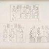 1.Augusto fa offerta a Sev, Netpe, e Merul.  2. Merul in mezzo ad Horus ed Iside. - (Dal tempio di Debodeh)  3. Augusto fa offerta ad Amon-rê  e a un dio leontocefalo.