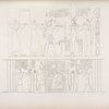 1.Tolomeo Filadelfo [Ptolemy II Philadelphus] viene a fare offerte a Iside [Isis] e Horus.  2. Iside [Isis] puerpera e nutrice di Horus, in mezzo ad Ammone, Thoth ed altre deità.