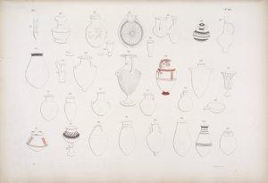 Raccolta di vasi di materie diverse, la maggior parte testacei, che  furono portati d'Egitto dalla Commissione toscana, e che ora si conservano nel R. museo egizio di Firenze.
