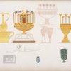 Vasi d'oro, di smalto, e di varie altre materie, figurati nelle tombe tebane.