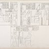 Fig. 1. Nerone offre ad Athyr [Hathor]. Fig. 2. Geta fa offerte a Chnuphis [Khum] e Sate [Satis]. Fig. 3.Antonino-Caracalla offre a Neith ec.