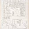 Tre stele incavate sulla faccia esterna del monte d'Ibsambul [Abû Sunbul]. Fig. 1. Ramses III sul trono che ascolta il discorso di un atloforo. Fig. 2. Il medesimo in mezzo a due atlofori. Fig. 3. Lo stesso re dinnanzi al quale viene un principe etiope.