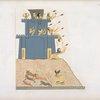 Ramses III [Ramses II] lanciato col suo carro, e seguito da tre figli ugualmente sul carro, assale una fortezza piantata sopra una rupe, saettandone gli atterriti difensori.