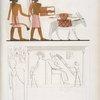 Continuazione dei medesimi [top]; e quadro di Amenôf I [Amenhotep II],  capo della dinastia XVII [bottom].