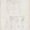 Il medesimo re consacra a Phrê [Ra] una porta. -- Amenôf II [Amenhotep II] reca in offerta quattro vitelli ad Amon-rê [Amon].