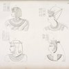 Fig. 33. Ramses VII [Ramses III]. Fig. 34. Ramses XI [Ramses X]. Fig. 35. Amenemses [Amenmesse]. Fig. 36. Tascia [Takhat].
