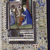 Miniature of the Annunciation with the Virgin reading a book (in a chemise binding?).