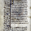 Opening of main text, with initial, border design, placemarkers.