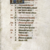 Opening page of calendar for the month of January including in red the feasts of Felix, bishop of Nantes (8 January) and Hilary, bishop of Poitiers (13 January).