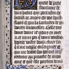 Opening of text in French, initial and border design.