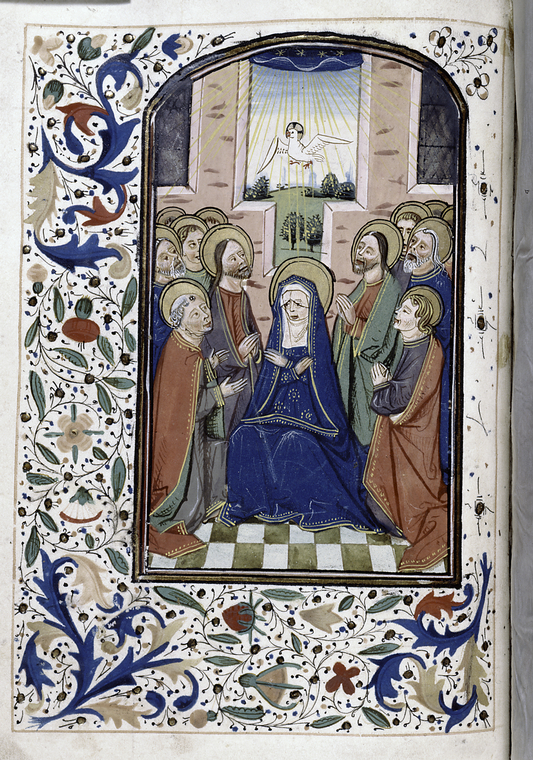 Fascinating Historical Picture of Blessed Virgin Mary in 1450
