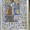 Miniature of the Visitation; initials, border.